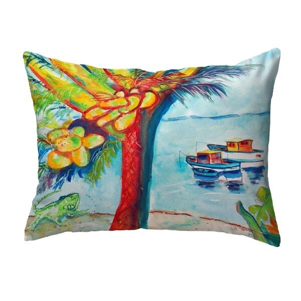 Cocoa Nuts & Boats Small No-Cord Pillow 12x12