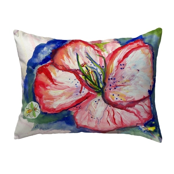 Hibiscus Small No-Cord Pillow 11x14
