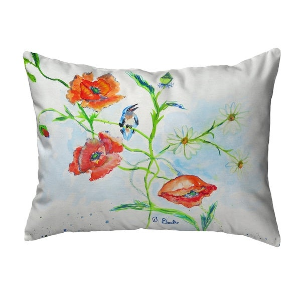 Poppies & Daisies Noncorded Pillow 16x20