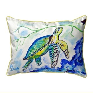 Yellow Sea Turtle Extra Large Pillow 20x24
