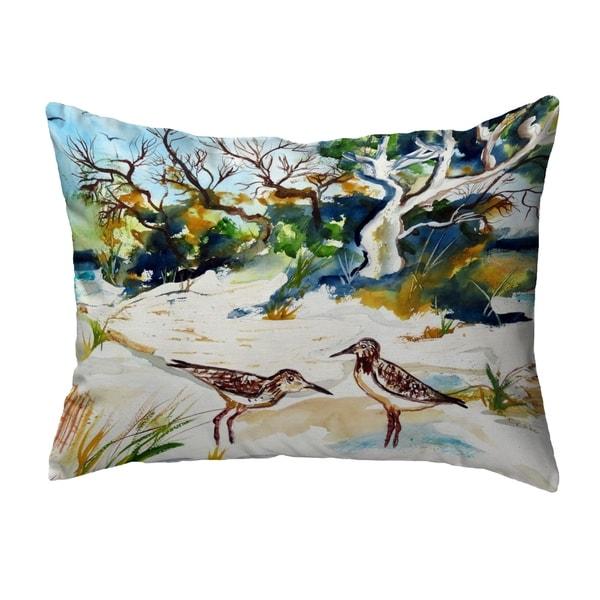 Tree & Beach Small No-Cord Pillow 11x14