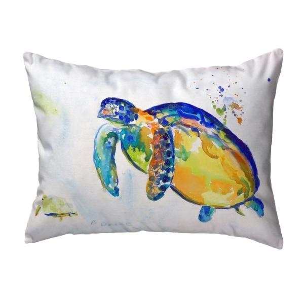 Blue Sea Turtle II Small No-Cord Pillow 11x14