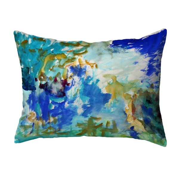 Abstract Blue Noncorded Pillow 16x20