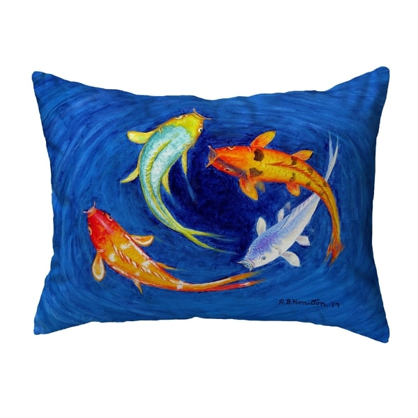 Swirling Koi Noncorded Pillow 11x14