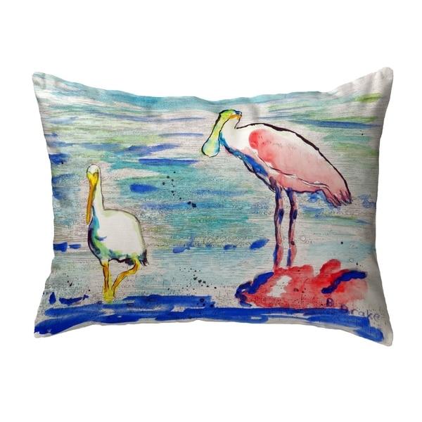 Spoonbill & Ibis Small No-Cord Pillow 11x14