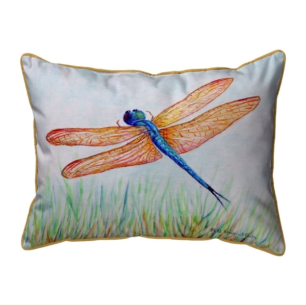 Amber & Blue Dragonfly Small Pillow 11x14