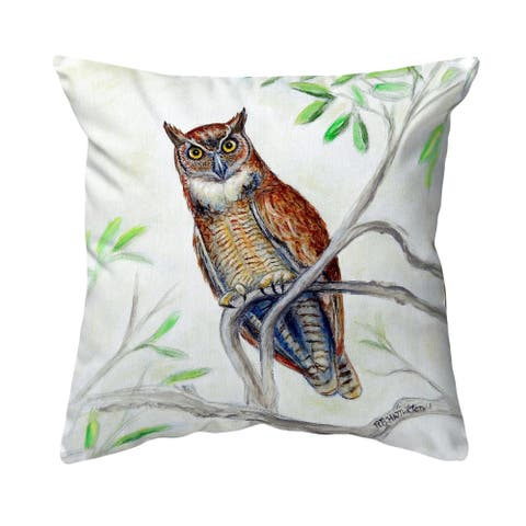 Great Horned Owl Noncorded Pillow 12x12
