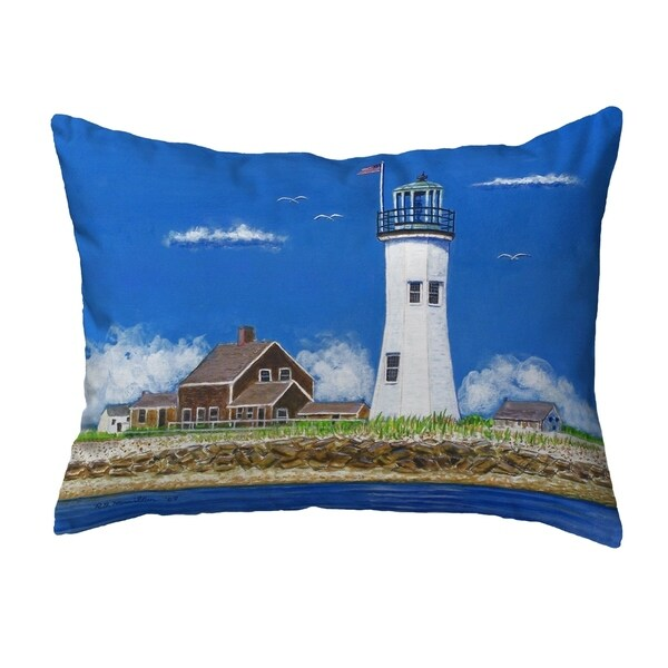 Scituate MA Lighthouse Small No-Cord Pillow 11x14