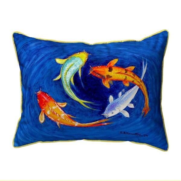 Swirling Koi Small Pillow 11x14