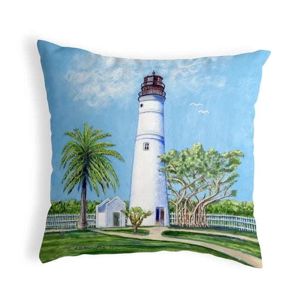 Key West Lighthouse Noncorded Pillow 12x12