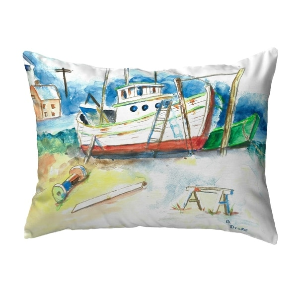 Old Boat Small No-Cord Pillow 11x14