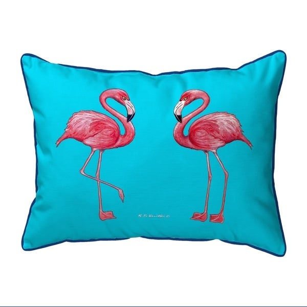 Flamingo Tiled Extra Large Corded Pillow 20x24