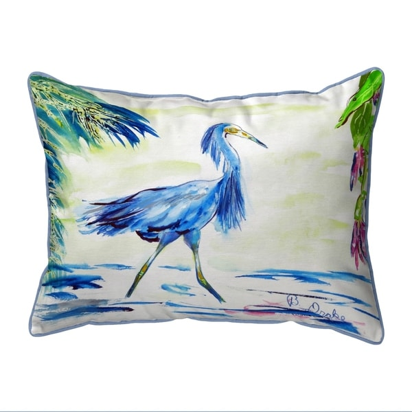 Blue Egret Small Pillow 11x14