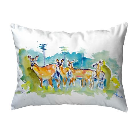 Deer Herd Small No-Cord Pillow 12x12