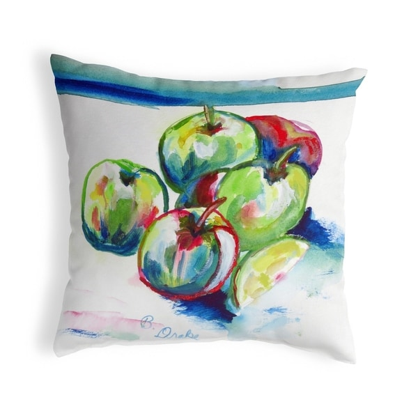 Green Apples Small No-Cord Pillow 12x12