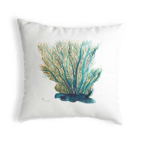 Blue Coral Small No-Cord Pillow 12x12