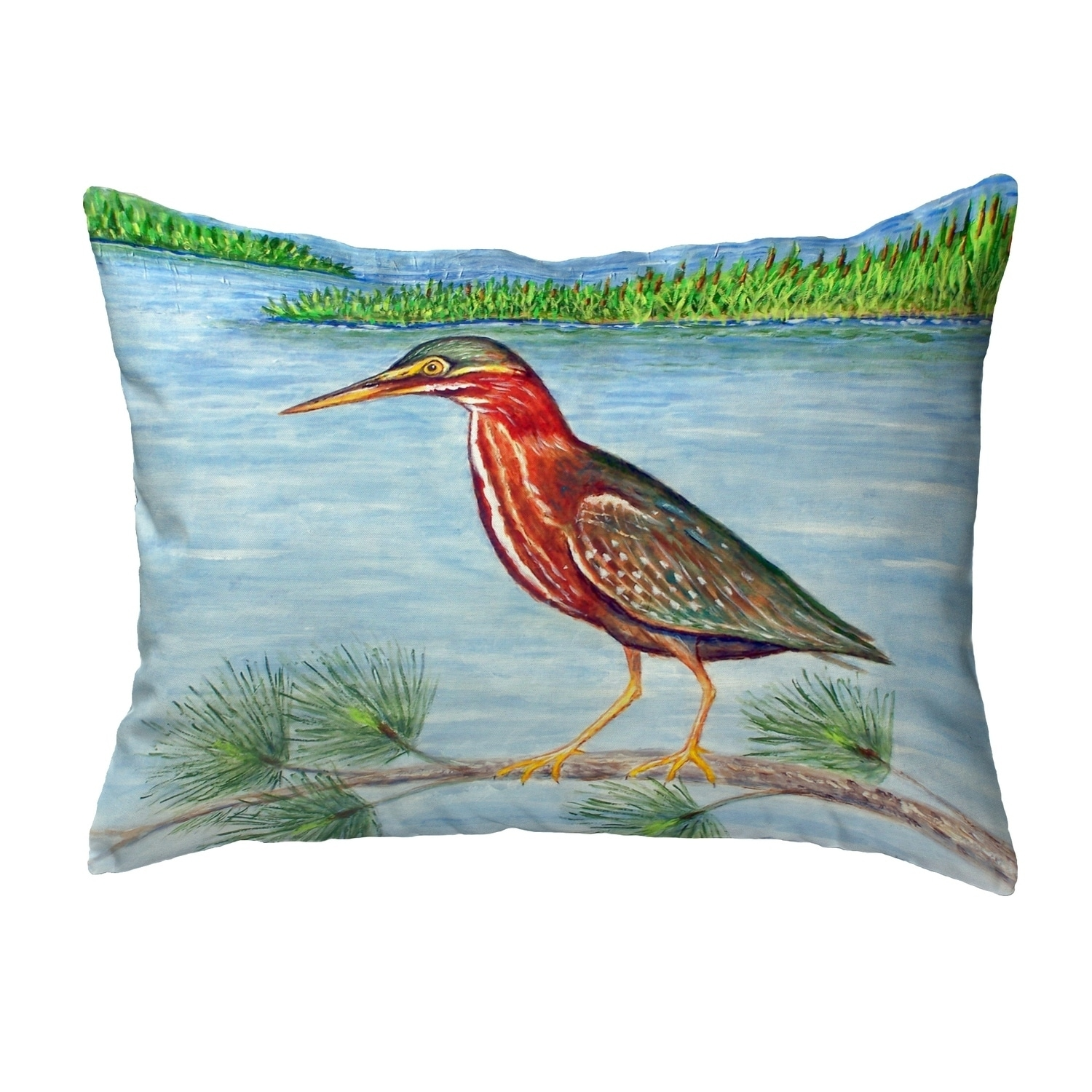 Green Heron Ii Small No Cord Pillow 11x14 On Sale Overstock 30421528