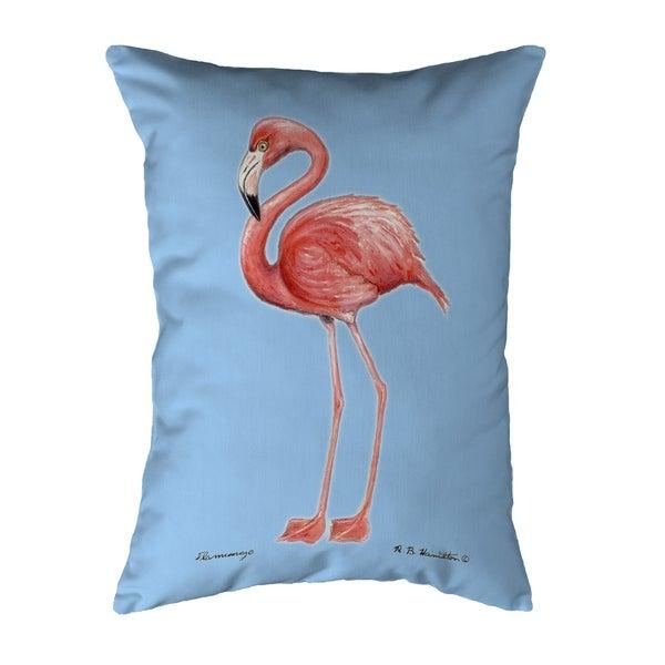Flamingo Light Blue Background Noncorded Pillow 16x20