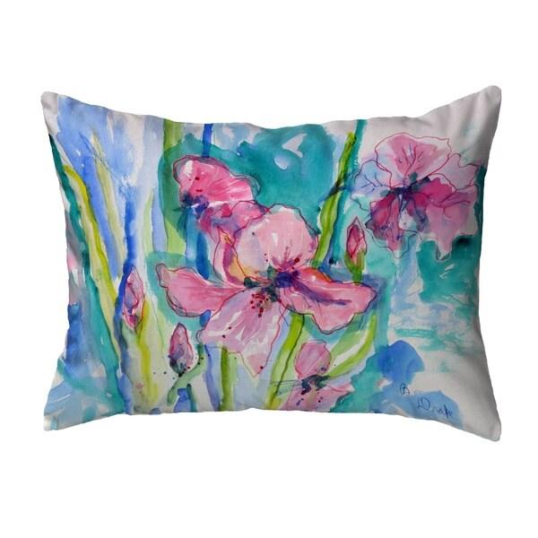 Pink Iris Noncorded Pillow 16x20