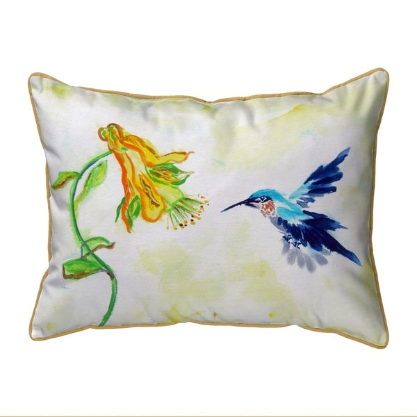 Hummingbird & Yellow Flower Extra Large Pillow 20x24