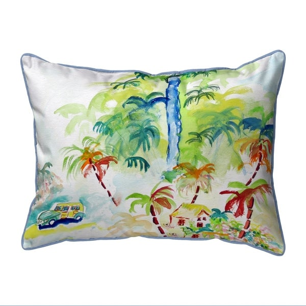 Colorful Palms Extra Large Pillow 20x24