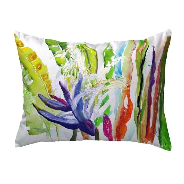 Abstract Bird of Paradise Small No-Cord Pillow 11x14