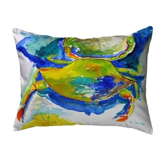 Blue & Yellow Crab Noncorded Pillow 16x20