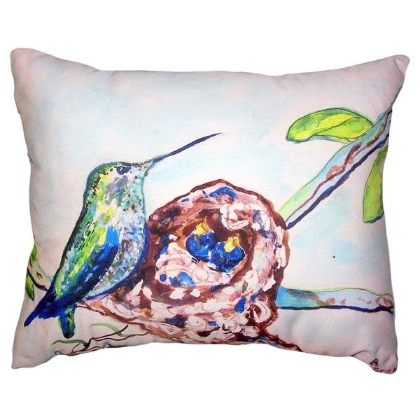 Hummingbird & Chicks No Cord Pillow 16x20