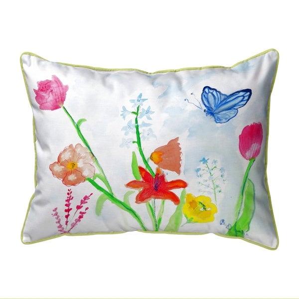 Pastel Garden Small Pillow 11x14