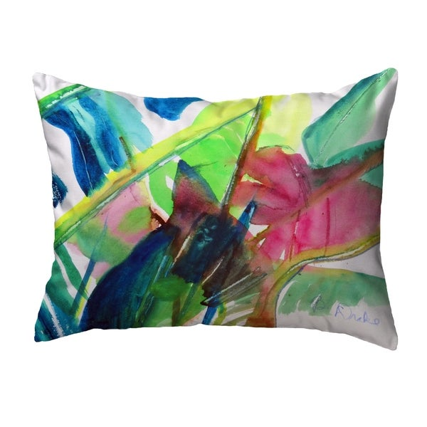 Pink Palms No Cord Pillow 16x20