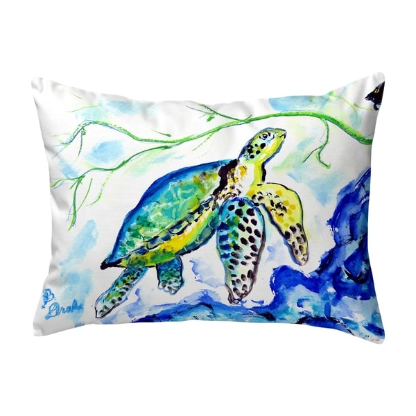 Yellow Sea Turtle No Cord Pillow 16x20