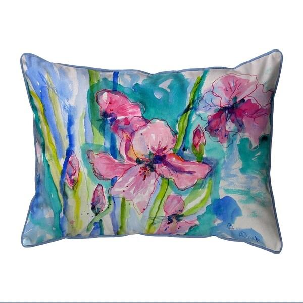 Pink Iris Small Pillow 11x14