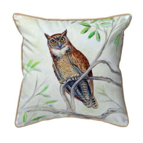 Great Horned Owl Small Pillow 12x12