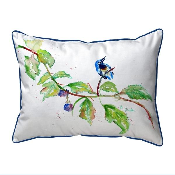 Bird & Blackberries Extra Large Corded Pillow 20x24