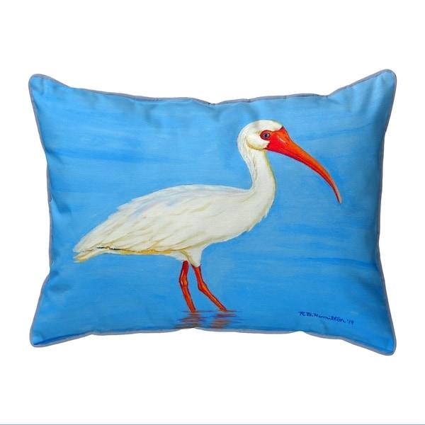 Posing White Ibis Extra Large Corded Pillow 20x24
