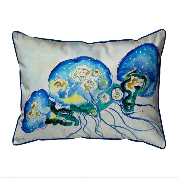 Multi Jellyfish Extra Large Zippered Pillow 20x24