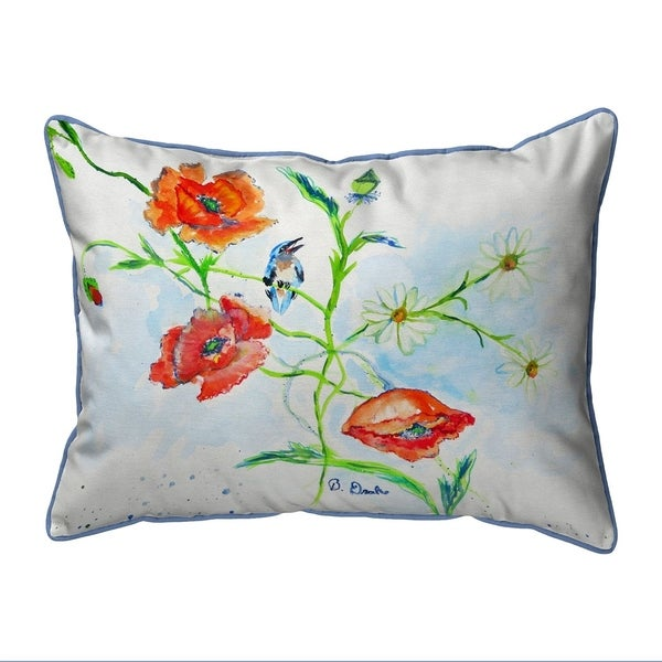 Poppies & Daisies Extra Large Zippered Pillow 20x24