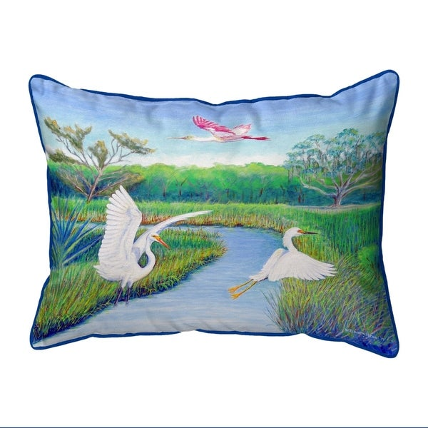 Marsh Wings Extra Large Zippered Pillow 20x24