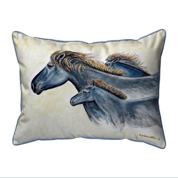 Wild Horses Extra Large Zippered Pillow 20x24