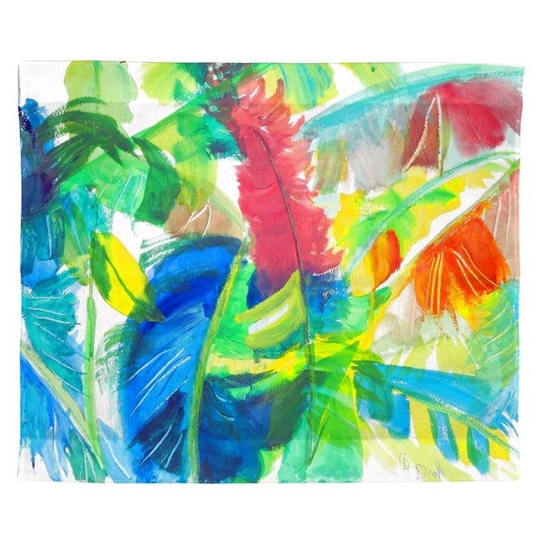 Abstract Palms Outdoor Wall Hanging 24x30