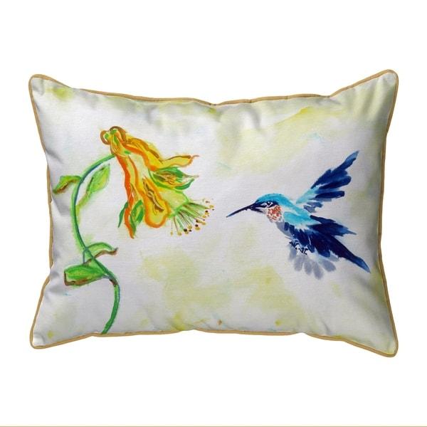 Hummingbird & Yellow Flower Small Pillow 11x14