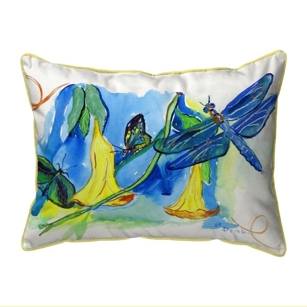 Yellow Bells & DragonFly Extra Large Pillow 20x24