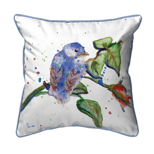 Betsy's Blue Bird Extra Large Pillow 22x22