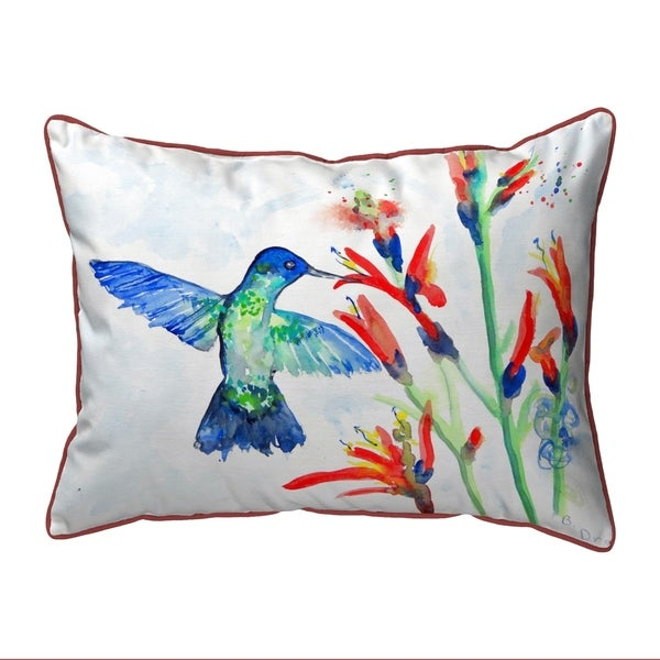 Hummingbird & Fire Plant Extra Large Pillow 20x24