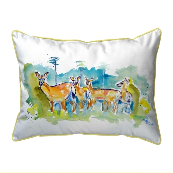 Deer Herd Extra Large Zippered Pillow 22x22