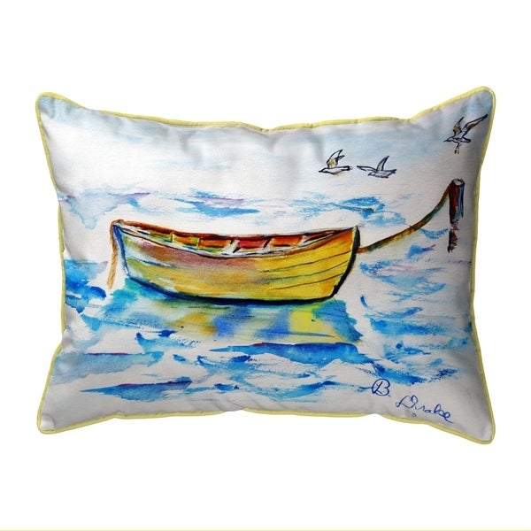 Yellow Row Boat Extra Large Pillow 20x24