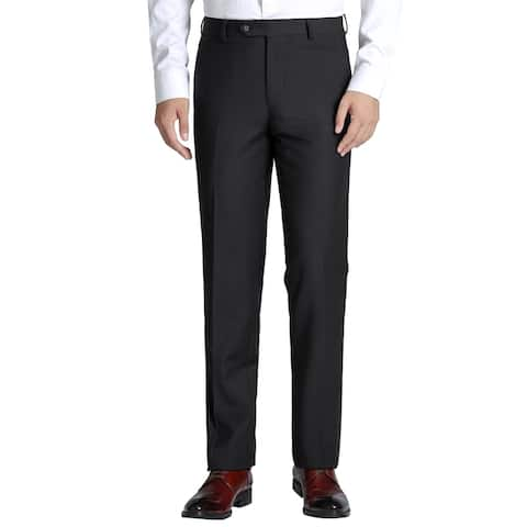 Men's Classic-Fit Performance Flat Front Wool Dress Pant