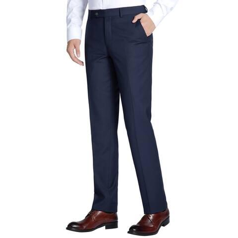 Men's Classic-Fit Performance Flat Front Wool Dress Pant