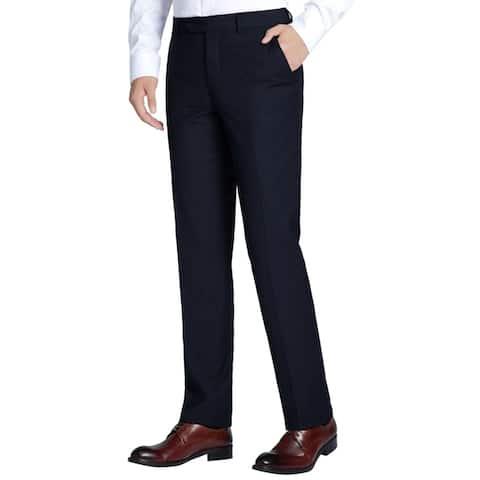 Men's Classic Fit Flat Front Suit Pants
