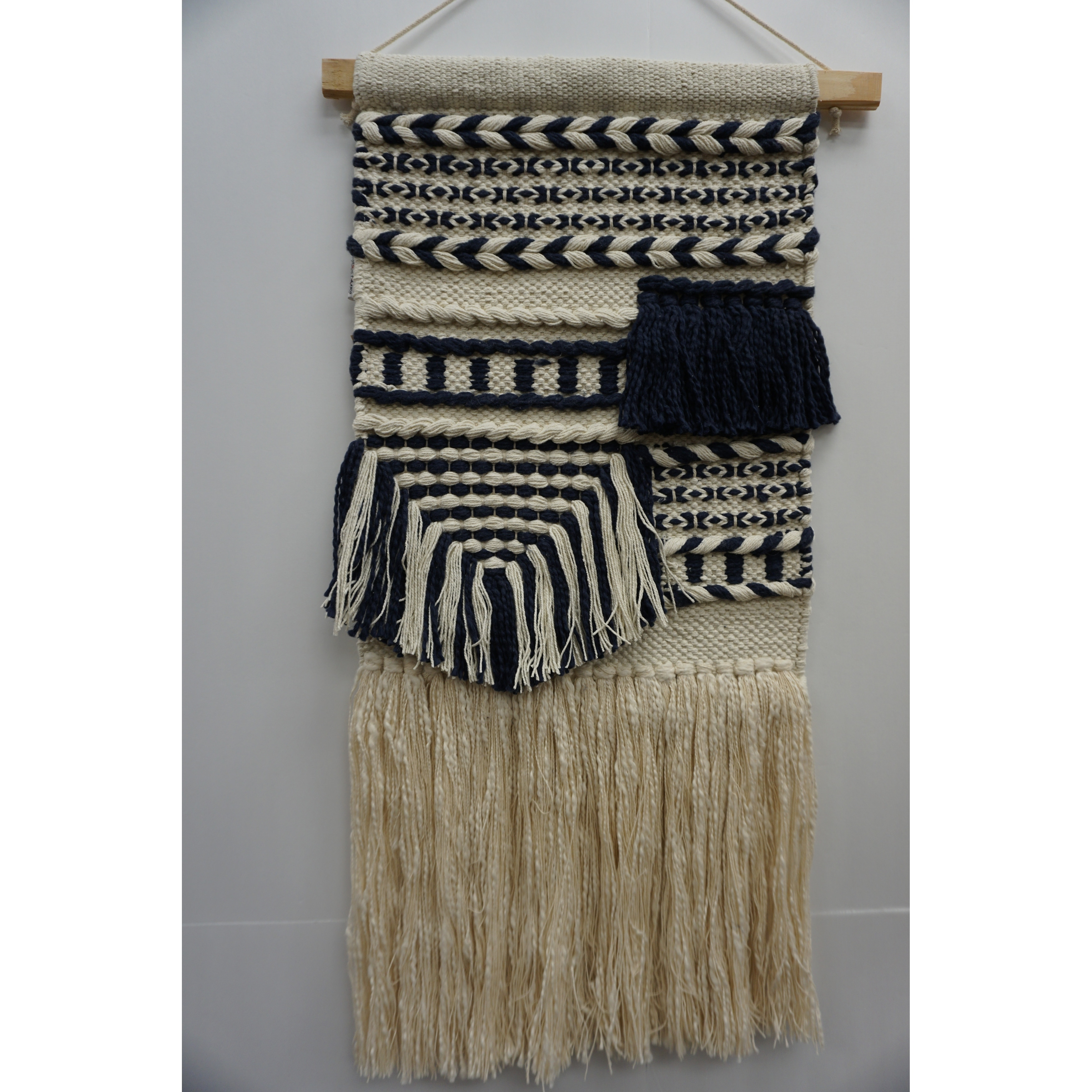 Macrame Handmade Wall Hanging Tapestry Tapestries Accueil Décoration Murale Noir